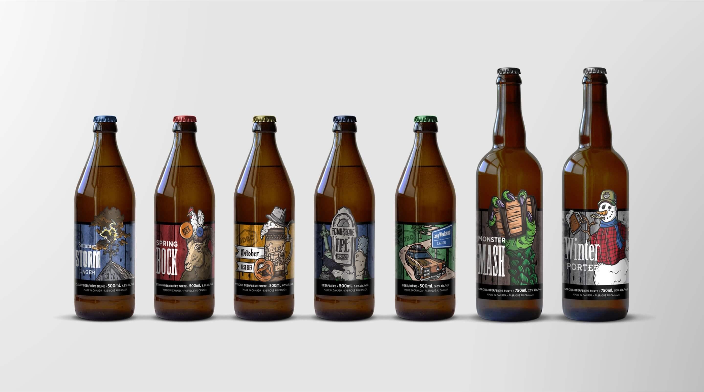 barn door beer label design series