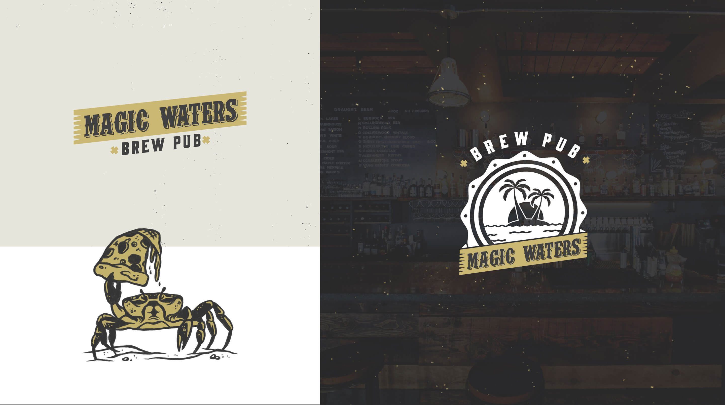 magic waters restaurant brand identity system