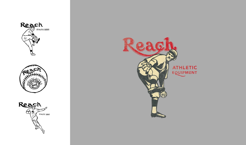 Reach athletics baseball shirt illustration