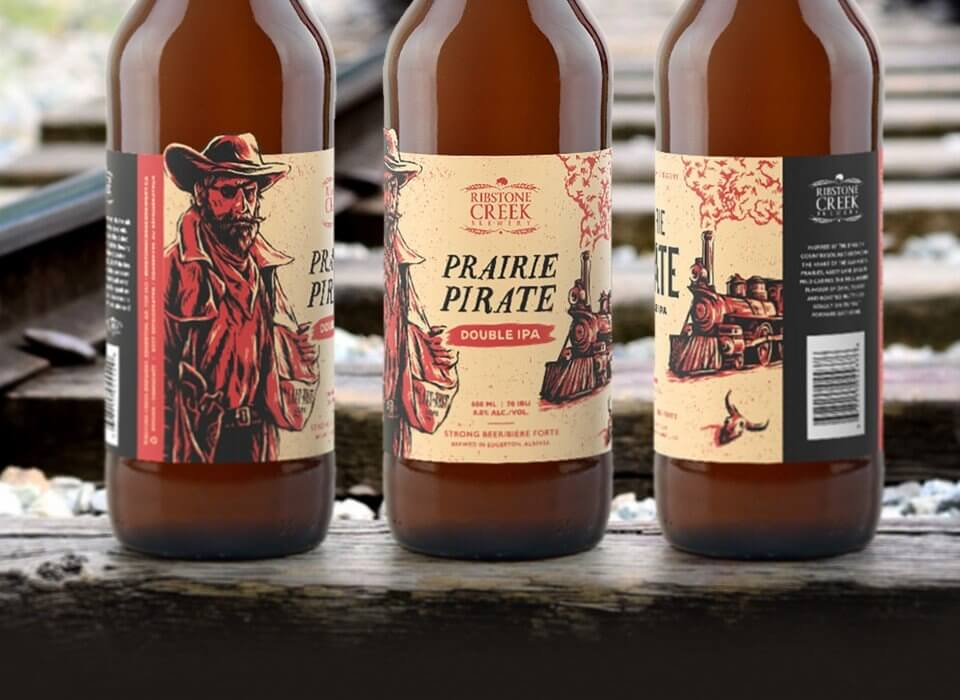 Ribstone Creek Brewery Label Illustrations