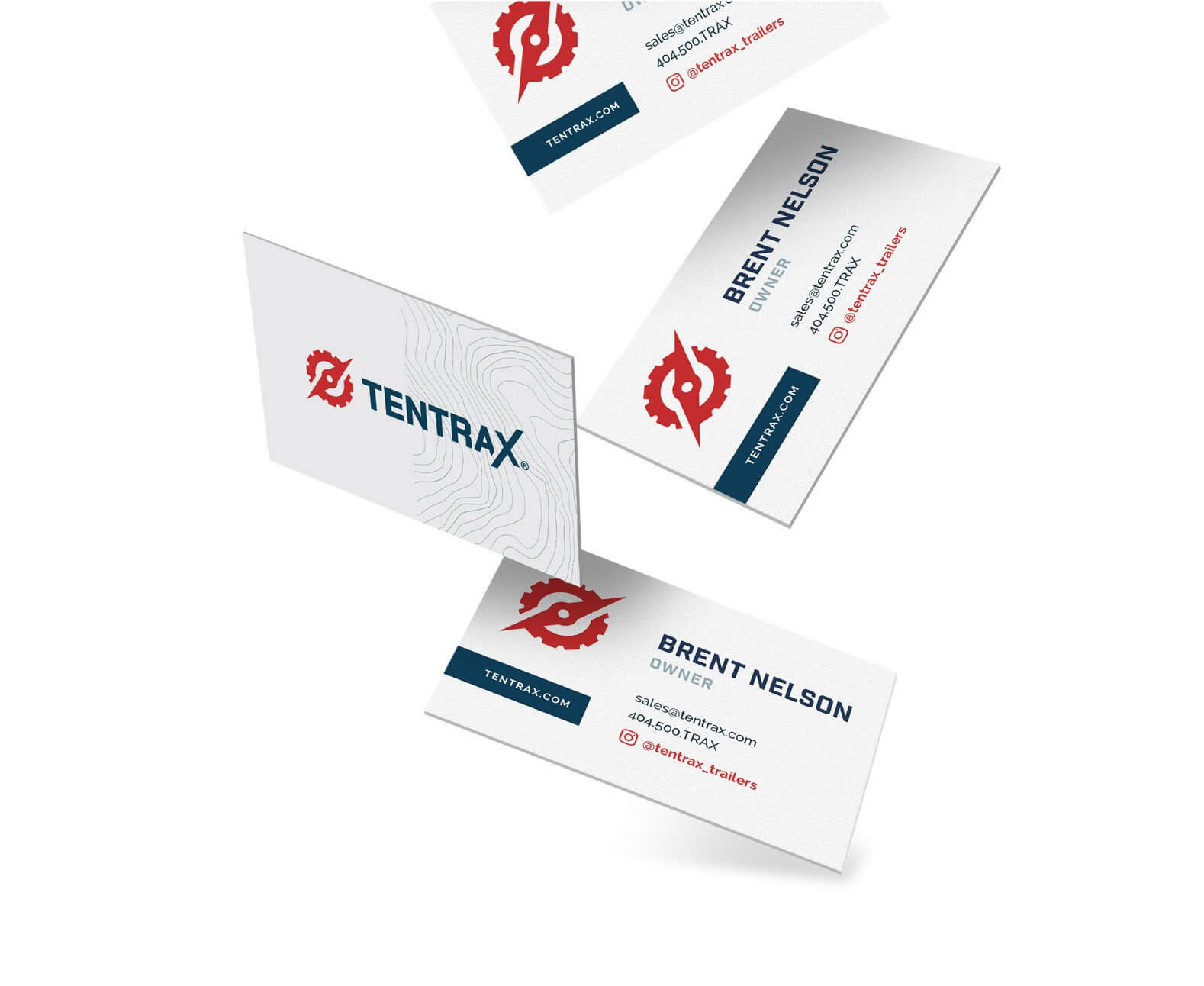 Tentrax business card design